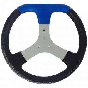 Volante de Kart Universal em Detalhe Corino Azul 320mm